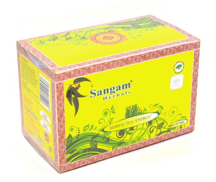 Sangam herbals чай травяной Бодрость (40г)