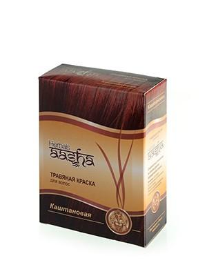 Травяная краска для волос Каштановая 6х10г