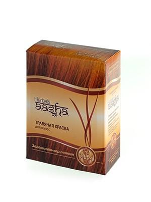 Травяная краска для волос Золотисто-коричневая 6х10г