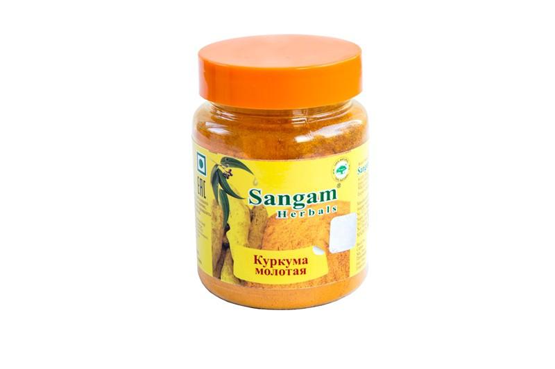 Куркума молотая Sangam Herbals (140г)