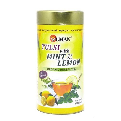 Чай базилик с мятой и лимон OLMAN (100г.)