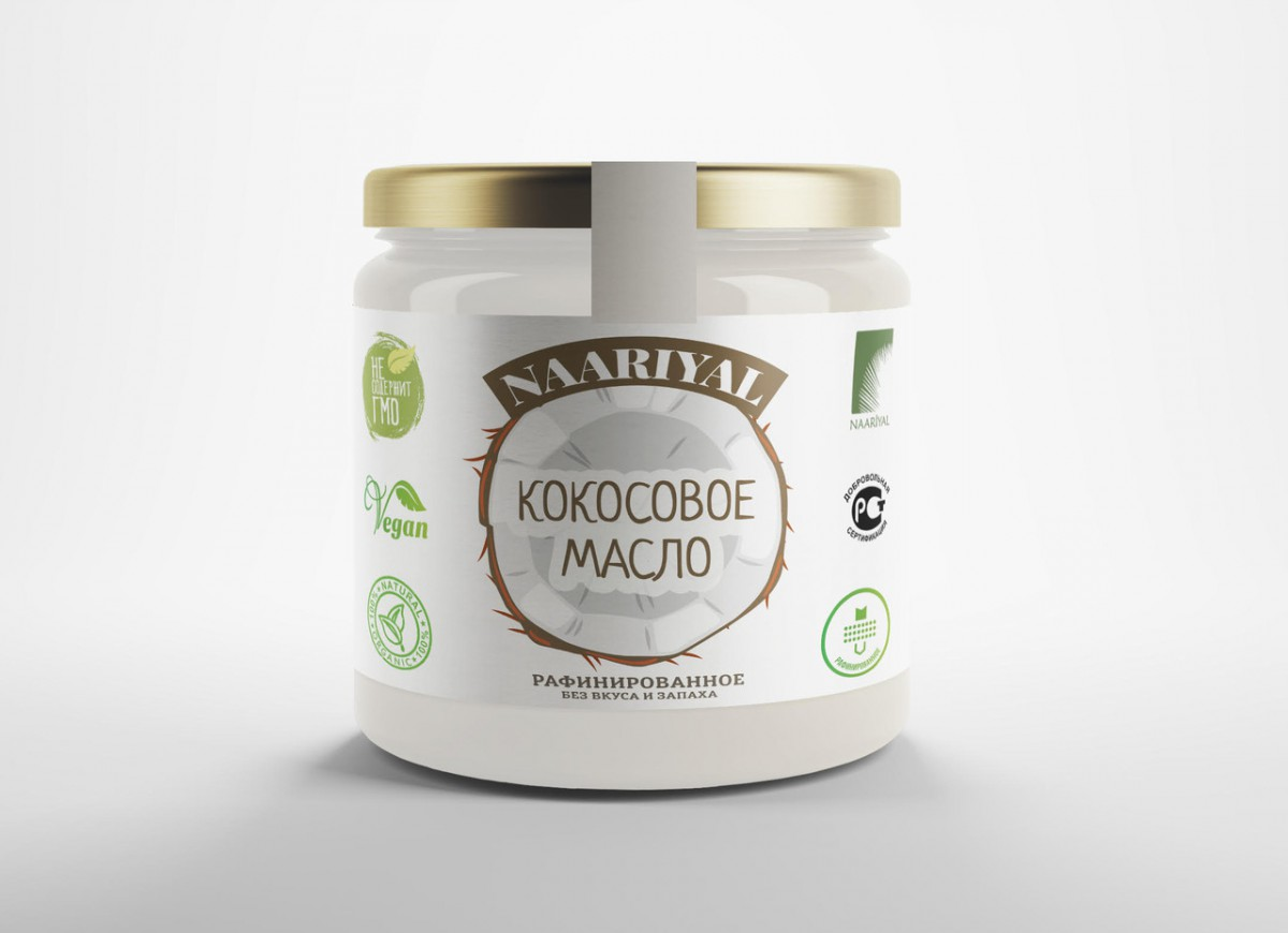 Масло кокосовое без запаха Naariyal (500 мл)